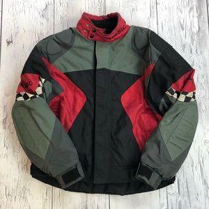 Vintage Teknic Motorcycle jacket Large fit 90's